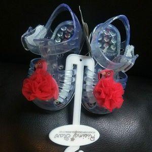 ABG Baby Flamingo Transparent Jelly Sandals